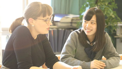 ネイティブと女子生徒