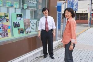 江川教頭と美術の戸延先生