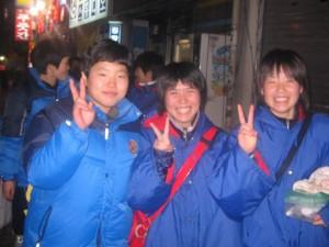韓国の生徒と一緒に