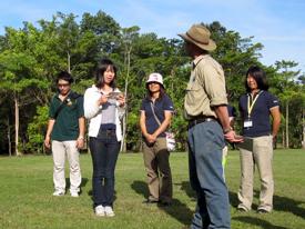 植樹式 新生徒会長の英語スピーチ