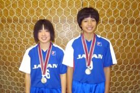 銀メダル及び今枝・三田両選手