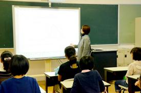 電子黒板を活用した授業
