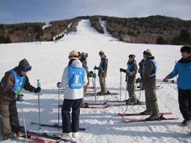 スキー初心者班