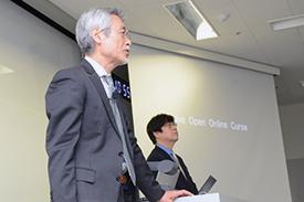 富士見丘学園大島教頭先生と、本校の江川教頭