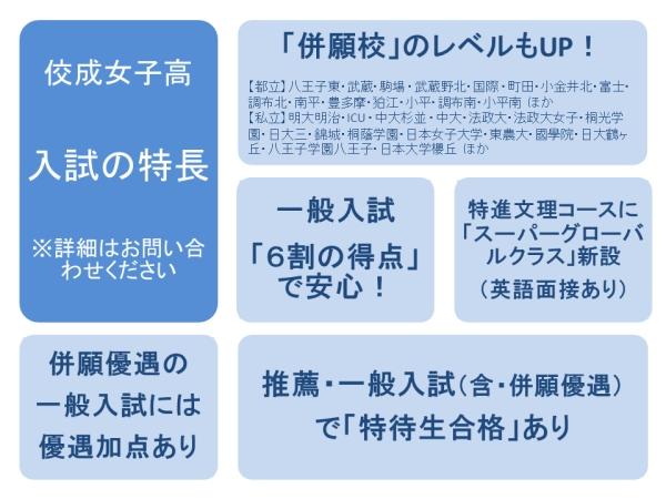 佼成女子高入試の特徴