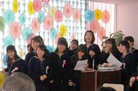 中学校卒業を祝う会
