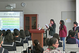 スリランカの学生が発表