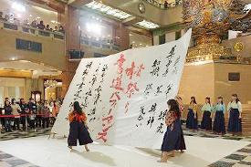 桜・学生書道ライブ