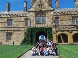 シドニー大学のキャンパスツアー