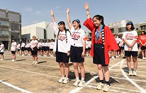 生徒3名が選手宣誓